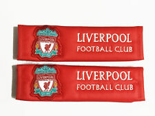 Liverpool FC Seat Belt Covers - Premium Limited Edition Faux Leather (pair)