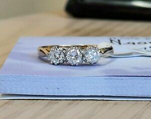 18ct Three Stone Diamond Ring 0.50cts