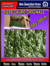 SIEPE ARTIFICIALE RECINZIONE 1X3M FOGLIA LAURO SEMPRE VERDE X BALCONE E GIARDINO