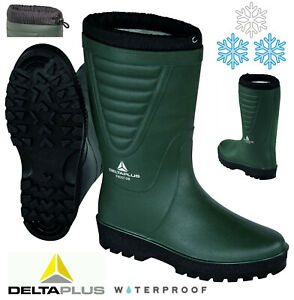 NEW MENS HIKING BOOTS WINTER GRIP MUCKER WELLINGTON WARM THERMAL FUR LINED SHOES
