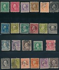 "US (1917-1919) ""FRANKLIN & WASHINGTON"" (23) USED; AS SHOWN; CV $130"