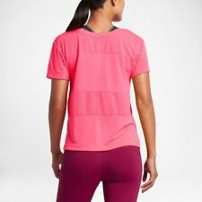 NIKE DRI-FIT WOMENS LADIES SHORT SLEEVE RUNNING TOP PINK BNWT M Medium