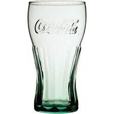 4 X Coca Cola Famous Georgia Green Coke Logo Embossed Glasses 16oz Toughened