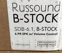 RUSSOUND SDB6.1  6 -Pair Dual-Source Speaker Selector Volume Control