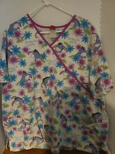 Disney Eyore Plus Women's 2Xl Size Scrub Top Nursing