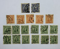 AMAZING LOT OF CHINA STAMPS DOUBLE CIRCLE DOUBLE RINGED SUN YATSEN