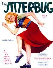 Jitterbug vintage magazine cover dancing swing retro cool Fine Art Poster Print
