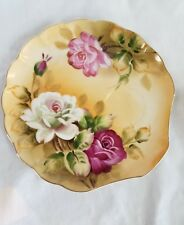 Lefton China Heritage Brown Rose Floral Snack Plate ONLY REPLACEMENT PLATE