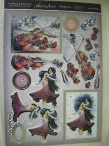 Beautiful Die Cut Toppers by Hunkydory  'Music and Dancing' (634)
