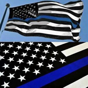 FlagImp Blue Lives Matter 3 x 5ft USA Thin Blue Line Police Law Enforcement Flag