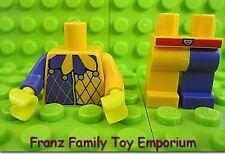 New LEGO Minifig Torso and Legs Set Purple/Orange Harlequin Castle Clown Parts