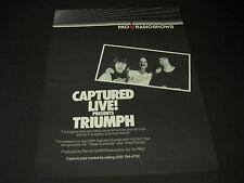 TRIUMPH Captured Live RKO RADIO SHOWS 1984 Promo Display Ad