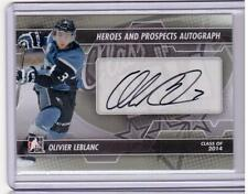OLIVIER LEBLANC 13/14 ITG H&P Rookie Autograph Auto #A-OL RC Class of 2014