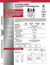 SENSOTEC Pressure Transducer Brand New