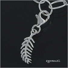 Sterling Silver Small Feather Clip On Charm #94143
