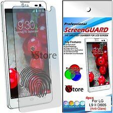 4 Películas Matt para LG Optimus L9 II 2 D605 Anti-glare Anti-huellas Película