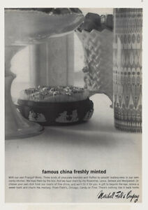 1965 Marshall Field: Famous China Famously Minted Vintage Print Ad