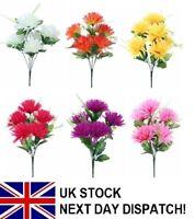 Spiky Chrysanthemum Bouquet Bush 5 HEAD White Pink Purple Yellow Orange Dark Pin