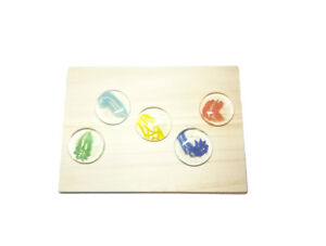 Japanese Handmade Hopscotch Tiddlywink Marble Stone Glass 5Pcs