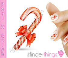 Christmas Candy Cane Nail Art Decal Sticker Set CMS010