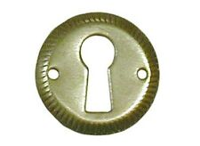 NATIONAL LOCK KEY HOLE ESCUTCHEON 1 INCH DIAMETER BRASS N2008 3