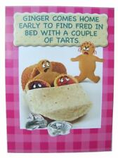 Fred & Ginger Joke BLANK card by Great British card company