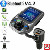 Bluetooth Car FM Transmitter MP3 Player Hands-free Radio Kit USB Charger Ad A2D3