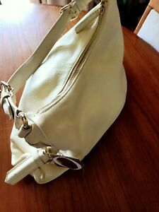 Oroton Shoulder Bag Cream Leather Brand New