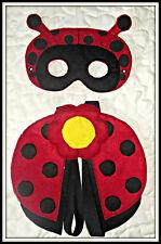 Handmade Lady Bug Eye Mask & Wings - Costume, Dress up