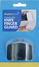 STAINLESS STEEL KNIFE FINGER GUARD METAL SAFE SHIELD PROTECTOR CUT CHOP SLICE UK