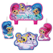 Shimmer and Shine Birthday Candles,Cake Topper Party Decoration Favor Supply 4ct