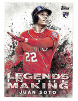2018 Topps Update Juan Soto Legends In The Making rookie RC card Nationals