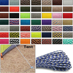 550 Paracord Parachute Cord Lanyard Tent Rope Mil Spec Type III 7 Strand 33-10FT