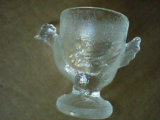 Rooster Chicken Hen Glass Tooth Pick Holder
