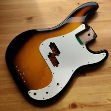 Used Relic 1990s Sunburst Prescision P Style Bass Guitar Body & Pickguard