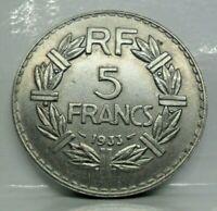 Km# 888 - 5 francs lavrillier 1933 - SUP - monnaie France - N10873