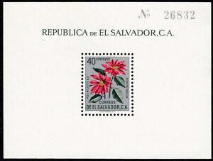 El Salvador  -  souvenir sheet  #718c Poinsettia  - 1962 - MNH - 11809