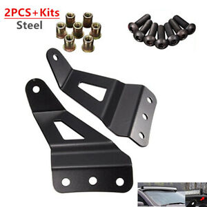 Refit Off-road Vehicle Windshield Mounting Stands Roof LED Light Strip Bracket