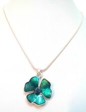 NEW PILGRIM SILVER PLATED NECKLACE SWAROVSKI CRYSTALS DELICATE FLOWER PENDANT