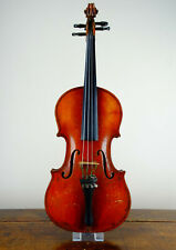 Antique Vintage Violin with 2 Bows & Case Full Size 4/4