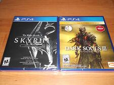 Lot 2 PS4 Games Dark Souls III: The Fire Fades Edition & Elder Scrolls Skyrim SE