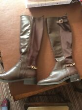 New Look Brown Long Boots, 7/41, Croc Style