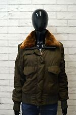 PEUTEREY L Donna Giacca Giubbotto Collo in Pelliccia Jacket Woman Cappotto TOP