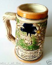 Bier BEER STEIN 1974 HEIDELBURG SCHLOSS Castle - 1974 Germany - Made In Japan