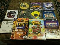 LOT OF VINTAGE PC GAMES WINDOWS 95/98/XP CARD BOARDGAMES SCRABBLE BOGGLE PINBALL