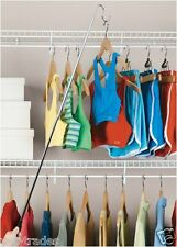 New Adjustable High Reach Chrome Garment Hook Adjusts to 5 Feet
