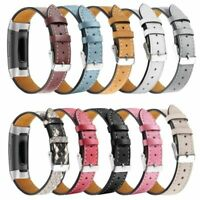 For FitBit Charge 3 Watch Wrist Band Strap Silm Leather Wristband Replacement*1