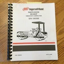 Ingersoll Rand Dd 90hf Parts Manual Book Catalog Vibratory Compactor Roller Ir