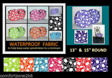Polyester Floral Round Decorative Cushions