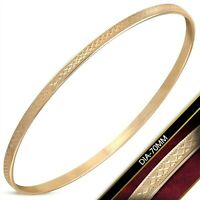 Rose Gold PVD Bangle Bracelet Stainless Surgical Steel 3.5 mm